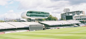 NatWest Media centre and cricket pitch at Lord's