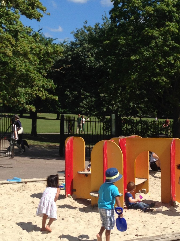 Summer fun in Primrose Hill play ground.