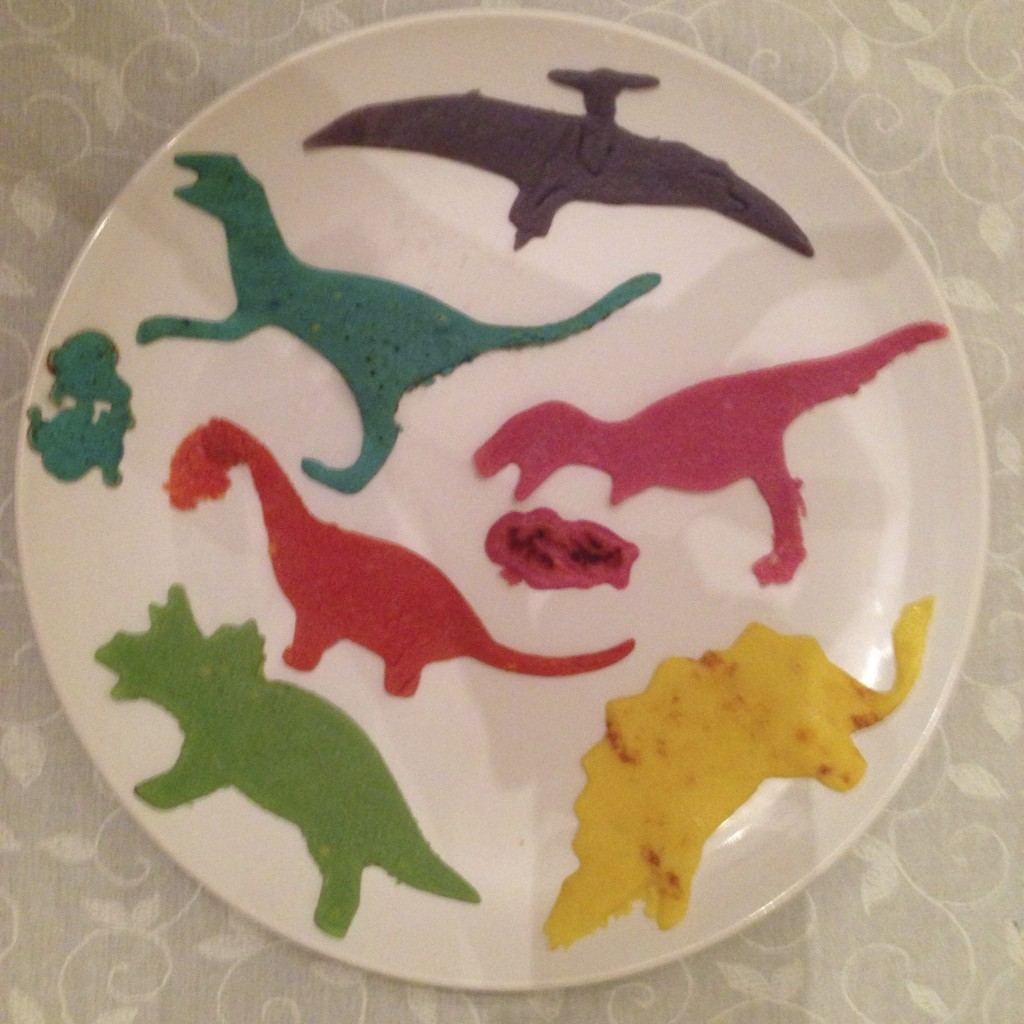 Dinosaur crepes