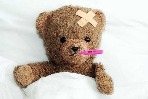 teddybear-sick